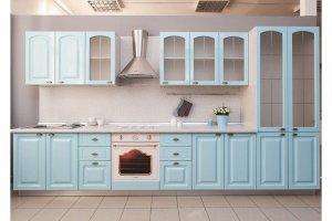 Нежно-голубая кухня Артуа в стиле Прованс - Мебельная фабрика «Хомма»