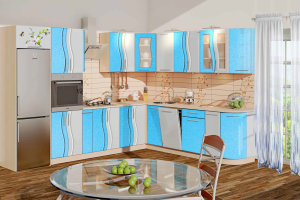 Новая угловая кухня Волна - Мебельная фабрика «КомфортОН», г. Москва