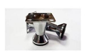 Ножка мебельная конус H=51-60 мм, хром - Оптовый поставщик комплектующих «Виком»