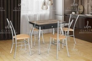Обеденная группа 4 стол Ника и стулья Грация - Мебельная фабрика «Classen»
