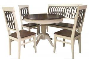 Обеденная группа Леонардо с банкеткой - Импортёр мебели «Мебвилл»
