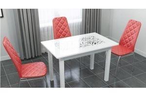 Обеденная группа с ажурным столом - Мебельная фабрика «CHROME STYLE (ИП Комалев)»