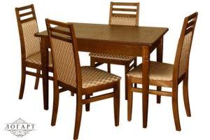 Обеденная группа Стол Барсук + стулья М12 - Мебельная фабрика «Логарт»