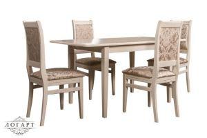 Обеденная группа Стол Барсук + стулья Сударь 32 - Мебельная фабрика «Логарт»