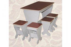 Обеденная группа стол и 4 табурета - Мебельная фабрика «Александра»