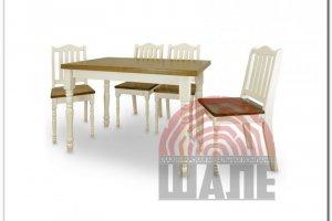 Обеденная группа стол и стул ОСТИН - Мебельная фабрика «ВМК-Шале»