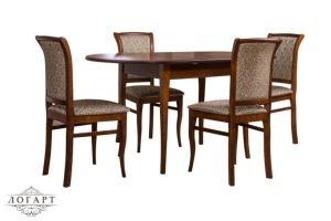 Обеденная группа Стол Лемур + стулья М15 - Мебельная фабрика «Логарт»