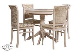 Обеденная группа Стол Медведь и стулья М 15 - Мебельная фабрика «Логарт»