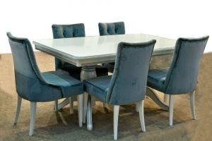 Обеденная группа  стол Николь-2 и стул Аморе - Мебельная фабрика «Рокос»