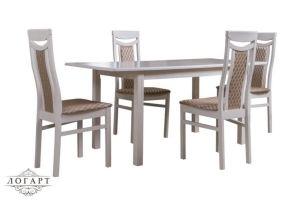 Обеденная группа Стол Соболь + стулья М77 - Мебельная фабрика «Логарт»