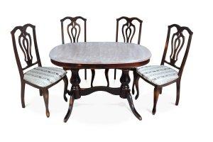 Обеденная группа стол Юкка под старину  и стул См 04 - Мебельная фабрика «ТехКомПро»