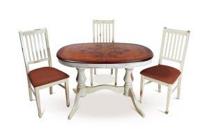 Обеденная группа стол Юкка с гравировкой  и стул См 26 - Мебельная фабрика «ТехКомПро»