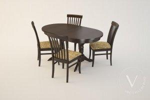 Обеденная группа Вариант 2-1 - Мебельная фабрика «ВерноКухни»