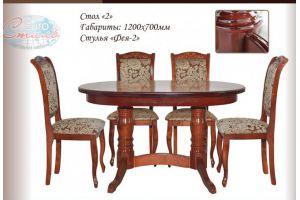 Обеденная зона Стол 2 стул Фея 2 - Мебельная фабрика «Евростиль»