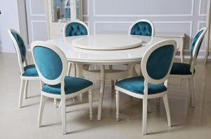 Обеденный стол Francesca с вращающейся надставкой - Мебельная фабрика «EVANTY»