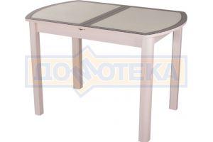 Обеденный стол Гамма ПО с экокожей под стеклом - Мебельная фабрика «Домотека»