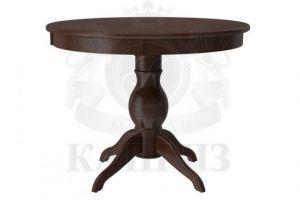 Обеденный стол из массива Гранд 1 балясный - Мебельная фабрика «Каприз»