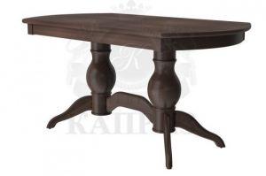 Обеденный стол из массива Гранд 2 балясный - Мебельная фабрика «Каприз»