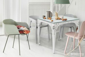 Обеденный стол квадратный белый - Мебельная фабрика «DEKONIKA»
