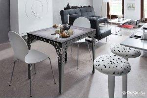 Обеденный стол квадратный черный - Мебельная фабрика «DEKONIKA»