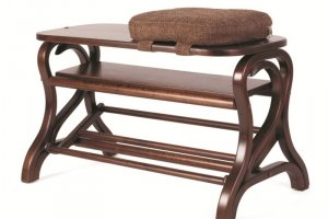 Обувница Диана средне-коричневый/ткань - Мебельная фабрика «Мебелик»