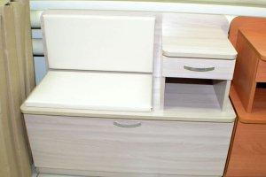 Обувница Мила, ясень шимо светлый, к/з молочный - Мебельная фабрика «Миссия»