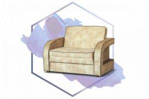Одноместный диван-кровать Соло 2 МД - Мебельная фабрика «Мебельный Формат»