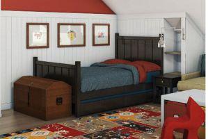 Односпальная кровать для мальчика Легенда - Мебельная фабрика «Массив мастер», г. Екатеринбург