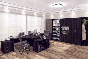 Офисная мебель темная комплект - Мебельная фабрика «Антей»