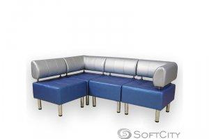 Офисный угловой диван - Мебельная фабрика «Софт Сити»