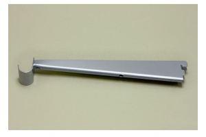 Опора для меламиновой полки 32 см с крючком, платина - Оптовый поставщик комплектующих «ЭлфаРус»