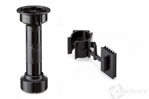 Опора мебельная регулируемая с клипсой для деревянного плинтуса (комплект) - Оптовый поставщик комплектующих «Аметист»