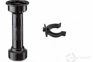 Опора мебельная регулируемая  с клипсой (комплект) - Оптовый поставщик комплектующих «Аметист»