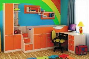Оранжевая детская мебель - Мебельная фабрика «Мебельная мастерская»