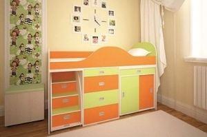Оранжевая двухъярусная кровать Иванка - Мебельная фабрика «Мир Нестандарта»