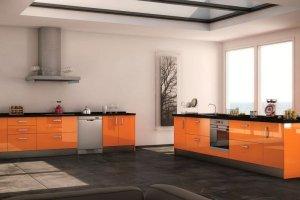 Оранжевая кухня 9 - Мебельная фабрика «Вертикаль»