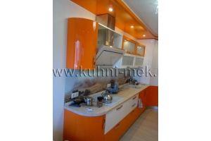 Оранжевая кухня под потолок - Мебельная фабрика «МЭК»