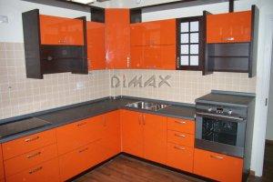 Оранжевая кухня Японка - Мебельная фабрика «Dimax»