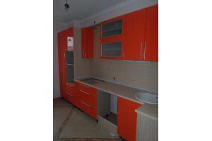 Оранжевая прямая кухня - Мебельная фабрика «ДОН-Мебель», г. Волгодонск