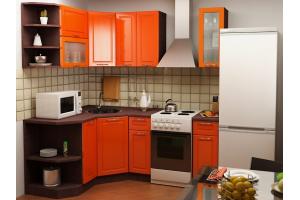 Оранжевая угловая кухня - Мебельная фабрика «Святогор Мебель»