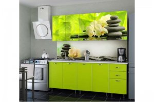 Кухня прямая Орхидея лайм - Мебельная фабрика «Дара»