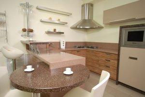 Оригинальная угловая кухня - Мебельная фабрика «Mirati»