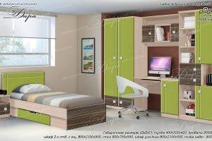 Набор мебели для молодежной комнаты Орион-1 - Мебельная фабрика «Дара»