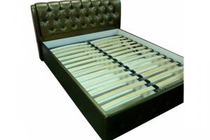 Ортопедическая кровать с каретной стяжкой - Мебельная фабрика «Технологии комфорта»