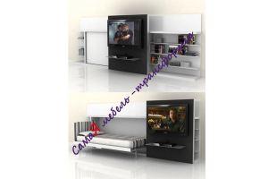 Откидная односпальная кровать с TV - Мебельная фабрика «МебельГрад (мебель трансформер)»