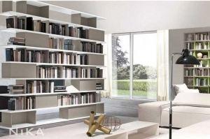Открытый белый стеллаж Монако STL12 - Мебельная фабрика «NIKA premium»