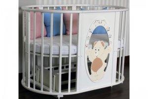 Овальная кроватка трансформер Родея - Мебельная фабрика «Агат»