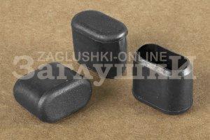 Заглушка овальная наружная 10х20 мм Артикул 10-20ОВЧФ - Оптовый поставщик комплектующих «Заглушки»