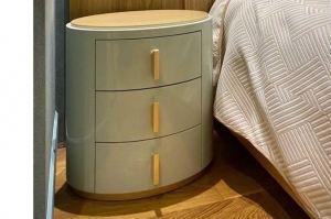 Овальная прикроватная тумба⠀ - Мебельная фабрика «Суздальская»