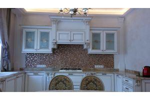 П-образная белая кухня - Мебельная фабрика «Винтаж»
